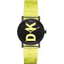 DKNY Uhr gelb / schwarz