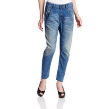 Diesel Fayza NE 0605A 605A JOGG Jeans Damen Hose Boyfriend Blau Mittelblau (W29/L32)