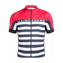 J.Lindeberg - San Remo Bike Pro-Poly Herren Bike Trikot (dunkelblau/rot) - L