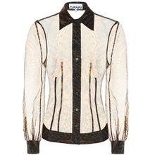 Bedruckte Bluse aus Organza