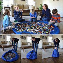 panniuzhe Kinder Play Matte Faltbare Baby Spielzeug Aufbewahrung erhalten Tasche für Home, Outdoor Picknick, Strand Teppich über 152,4cm blau