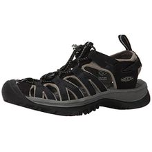 Keen WHISPER 5124-BKGA, Damen Outdoor Sandalen, Schwarz (Black/Gargoyle), EU 39.5 (US 9)(UK:6)