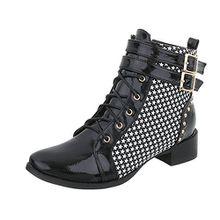 Ital-Design Keilstiefeletten Damen-Schuhe Keilstiefeletten Blockabsatz Schnürer Reißverschluss Stiefeletten Schwarz Weiß, Gr 37, Ju1179-