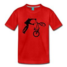 Spreadshirt BMX Dirt Jump Teenager Premium T-Shirt, 146/152 (10 Jahre), Rot