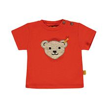 Steiff Collection Jungen T-Shirt 1/4 Arm 6833631, Rot (Cherry Tomato 2113), 62