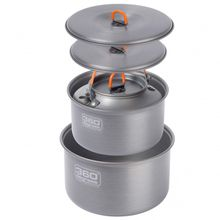 360 Degrees - Furno Large Pot Set with Kettle - Topf Gr One Size grau