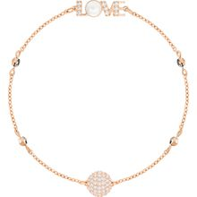 Swarovski Remix Collection Emotion Strand, weiss, rosé vergoldung