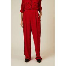 Stella McCartney Seiden-Hose mit Streifendetails Rot - Seide