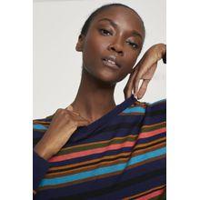 CLOSED Gestreifter Pullover aus Leinen & Baumwolle indigo blue