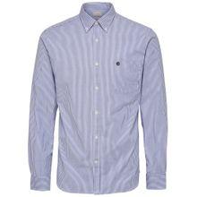 SELECTED HOMME Oxford-Langarmhemd blau