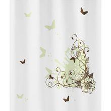 Kleine Wolke 5217224305 Duschvorhang Brown Flower, 180 x 200 cm, toffee