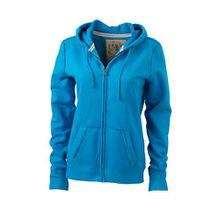 James & Nicholson Damen Sweatshirt Kapuzenjacke Ladies' Vintage Hooded Sweatshirt türkis (turquoise) X-Large