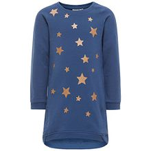 Name it Mädchen TUNIKA Sweatshirtkleid STERNE NITGENULLA 13144440 ensign blue Gr.98