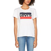 Levi's Damen T-Shirt The Perfect Tee, Weiß/Sportswear Logo White 0297, Large