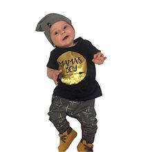 "towear Sommer Baby Boy ""Mamas Boy bedrucktes T-Shirt + Hose 2Kleidung SET, Harem"