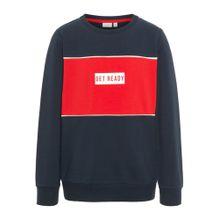 NAME IT Sweatshirt nachtblau / feuerrot / weiß