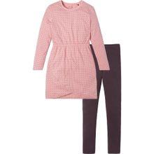 SCHIESSER Pyjama 'Explore' schoko / rosa
