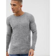 Selected Homme - Pullover mit Rundhalsausschnitt - Grau