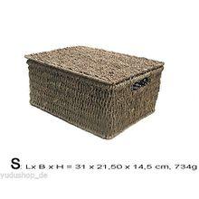 Kasten Aufbewahrung Korb mit Deckel Seegrass (s)