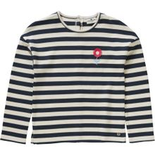 TOM TAILOR Sweatshirt beige / dunkelblau