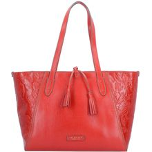 The Bridge Capraia Shopper Tasche Leder 37 cm rot Damen