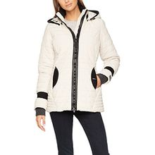 khujo Damen Jacke Midd Retro Jacket, Beige (Moonbea 119), Large