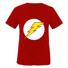 Big Bang Theory - Sheldon Blitz - Kinder T-Shirt Rot / Weiss-Gelb Gr. 152-164