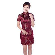 JTC Damen Frauen Partykleid Cheongsam Qipao Chipao Abendkleid Chinesisch Etuikleider (34, Modell 6)