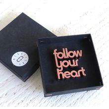 NOGALLERY follow your heart - Deko Schriftzug Holz