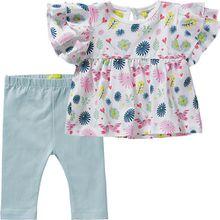 Baby Set T-Shirt + Leggings  weiß Mädchen Baby