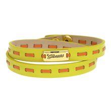 GUESS Wickelarmband Leder Gelb/Orange UBB21308 limone