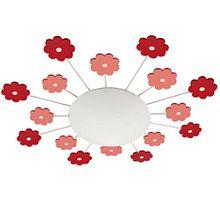 Kinder Decken Lampe rosa Spiel Zimmer Strahler Glas Wand Leuchte rund Micasa 4203.651.000.38
