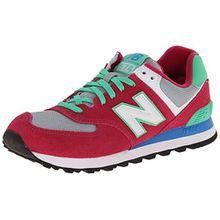 New Balance 574 Mädchen Hohe Sneakers, Pink (CPV Pink/Green), 36 EU/3.5 UK