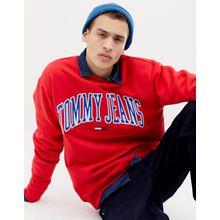 Tommy Jeans - Capsule - Legeres Sweatshirt im Collegestil, Rot - Rot