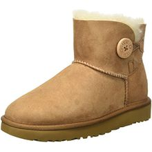 UGG Damen Mini Bailey Button Kurzschaft Stiefel, Braun (Chestnut), 38 EU
