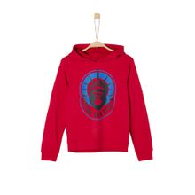 S.Oliver Junior Hoodie royalblau / rot / schwarz