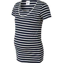 MLLEA ORG NELL S/S MIX BOX TOP NF A - Umstandsshirts - weiblich blau/weiß Damen Kinder