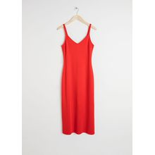 Midi Slip Dress - Red
