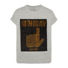 NAME IT T-Shirt gold / graumeliert / schwarz