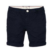 Scotch & Soda Shrunk Jungen Lightweight Poplin Shorts with Washing, Blau (Night 002), 140 (Herstellergröße: 10)