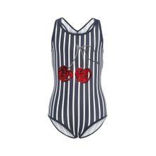 NAME IT Badeanzug dunkelblau / rot / silber / weiß
