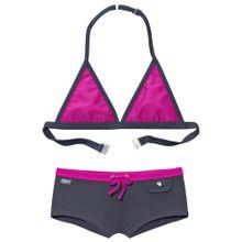 BUFFALO Triangel-Bikini grau / pink