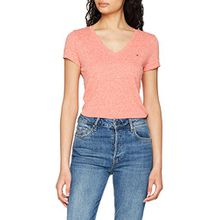 Tommy Jeans Damen T-Shirt Tjw Triblend Tee, Rosa (Spiced Coral 689), Large