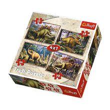 4in1 Puzzle 35/48/54/70 Teile - Die Dinosaurier