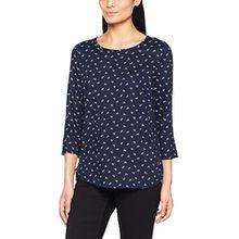 TOM TAILOR Denim Damen Bluse Printed Comfortable Tunic, Blau (Knitted Navy 6800), 38 (Herstellergröße: M)