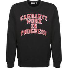 Carhartt WIP Sweatshirt 'Division' feuerrot / schwarz / weiß