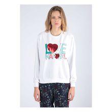 Kaporal Pullover Brant mit modischem Aufdruck Pullover weiß Damen