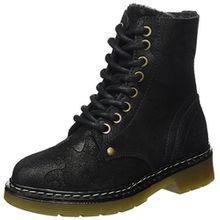 BULLBOXER Mädchen AHC501E6C Stiefel, Schwarz (Black), 34 EU