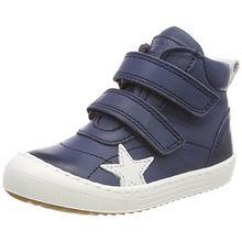 Bisgaard Unisex-Kinder Klettschuhe Hohe Sneaker, Blau (Navy), 24 EU