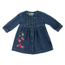 Sigikid Baby - Mädchen A-Linie Kleid Jeans Kleid, Baby 114109, Gr. 80, Blau (Indigo 212)
